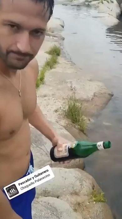 ワインでおっさんが人魚を釣るネタ動画
